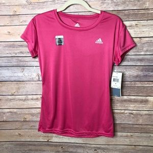 NWT Adidas Performance pink athletic tee size M